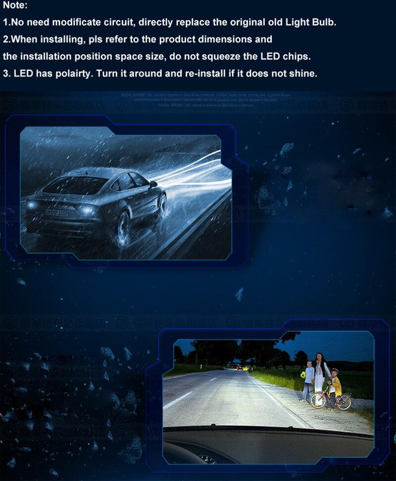 2Pcs Daytime Running Light H11 Fog Lights High Power Headlight Bulbs White 12V 18W 5630 SMD 6000K DRL Driving Light Car led