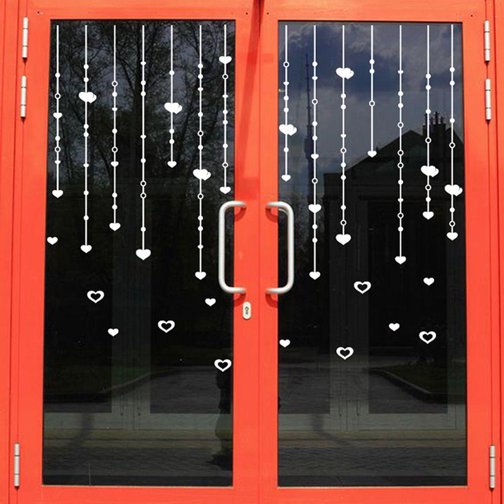 Liebe herz vorhang wandaufkleber schaufenster glas schranktüren und wandaufkleberchina mainland