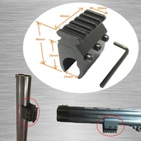 20mm Picatinny Weaver Rail Mount Base Adapter Tactical Hunting Rifle Gun Scope Mount Converter Laser Sight