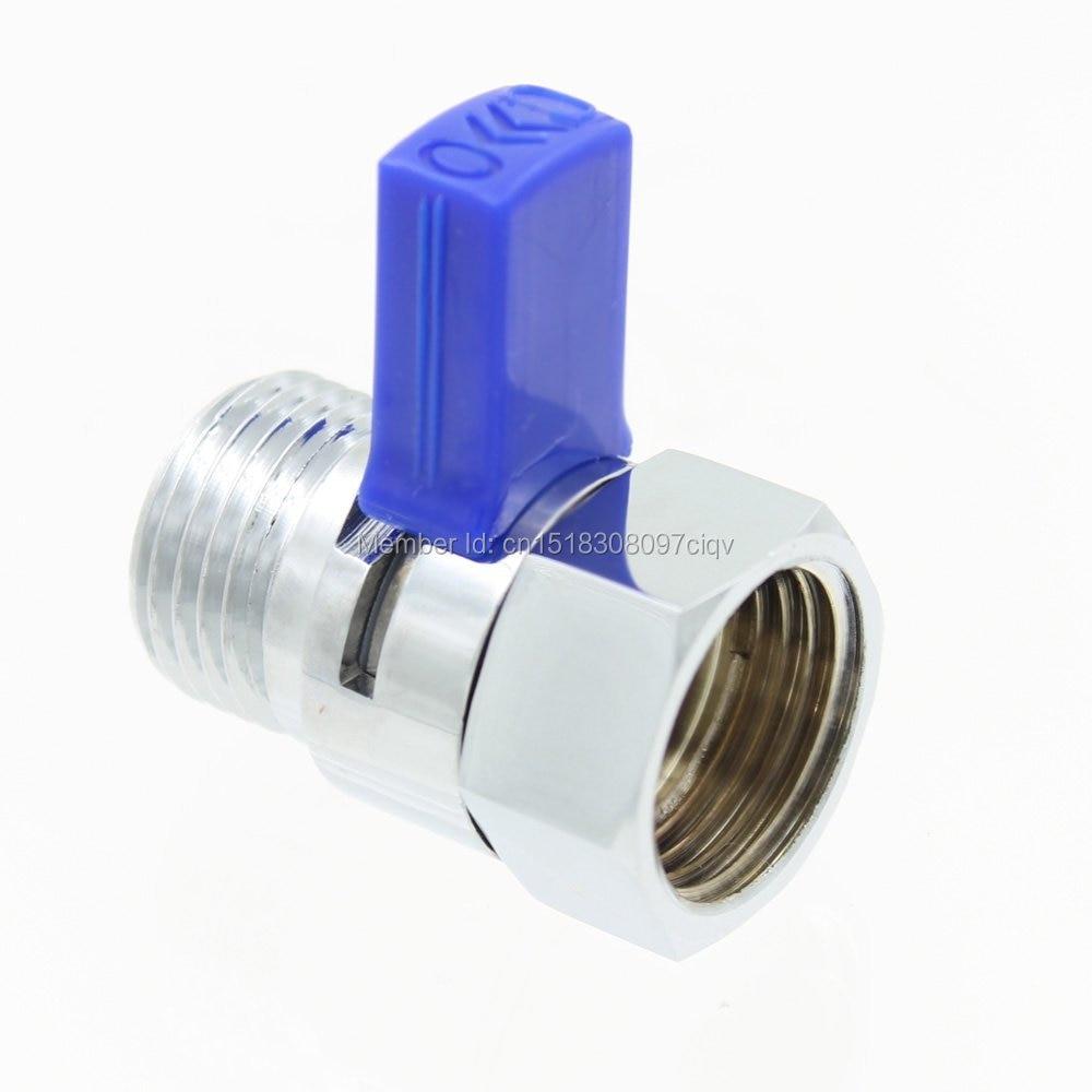 New Design Chrome Brass Shower Flow Control Switch  Water Pressure Reducing or Hand Shower Head Diverter Shut Off Valve