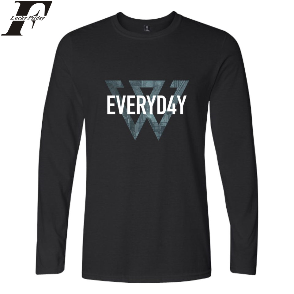 WINNER Long Sleeve T-Shirts Cotton Casual Style T-Shirt Kpop Spring Men/Women Spring Clothes Plus Size 4XL