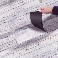 YOLALA 20x300CM Retro Zelfklevende PVC Vloer Roll Vintage Baksteen Lijn Patroon DIY Hotel Slaapkamer Grond Decal floor Sticker