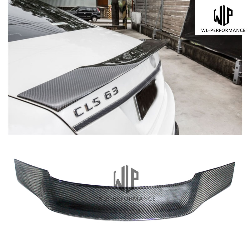 W218 R Style Carben Fiber Rear Spoiler Wings Car Styling For Mercedes-Benz CLS Class W218 CLS320 CLS63 Car Body Kit 2012-UP