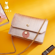 FOXER Fashion Women Chain Crossbody Bags Luxury Messenger Leather Bag & Lady Shoulder Purse for Female
