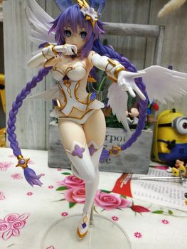 "Hyperdimension Neptunia Purple Heart Neptune Figure Sexy Girl PVC Toy Model 25cm 10"""