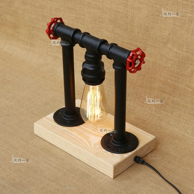 Industrial wind table lamps water pipes retro bedroom bed idea industrial wind table lamps water pipes retro bedroom bed idea western table lights restaurant bar iron aloadofball Images