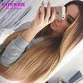 T1b/27 Blonde Ombre Pelucas Llenas Del Cordón Del Pelo Humano de Dos Tonos Ombre Peluca del Frente del cordón Brasileño Virginal Del Pelo U Parte Pelucas Para Negro mujeres