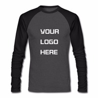 Custom Personalized Men's Ranglan Long Sleeve Shirt S 8XL USA SIZE High Quality Cotton Print Shirts Front or Back or Both Side