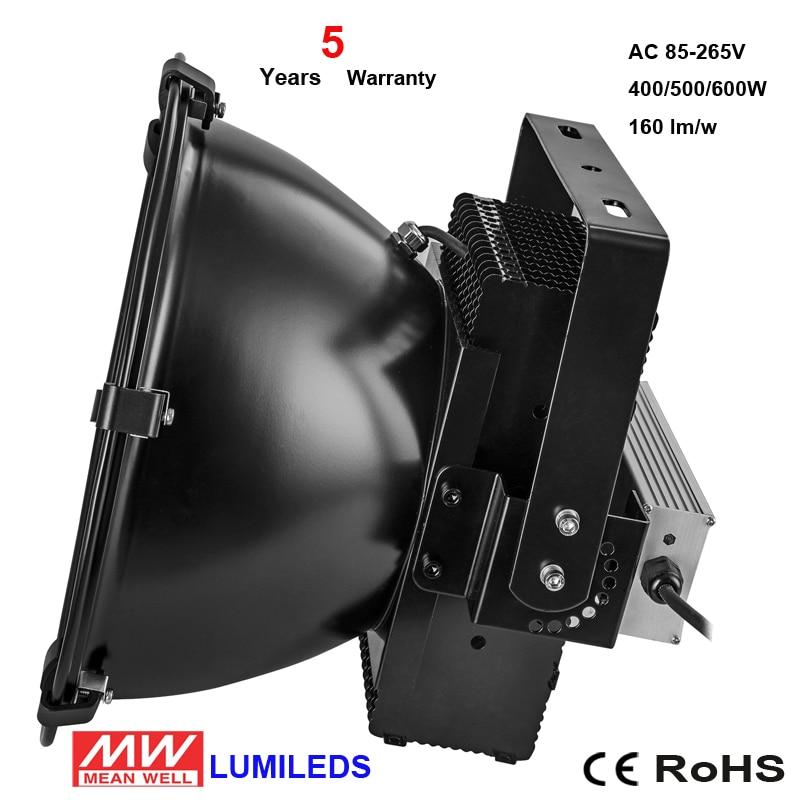 Warranty 5 Years IP67 Tunnel Mast Bridge Canopy Foco Outdoor Projecteur Warehouse Industrial Lamp 200W 500W 600W Led Flood Ligh
