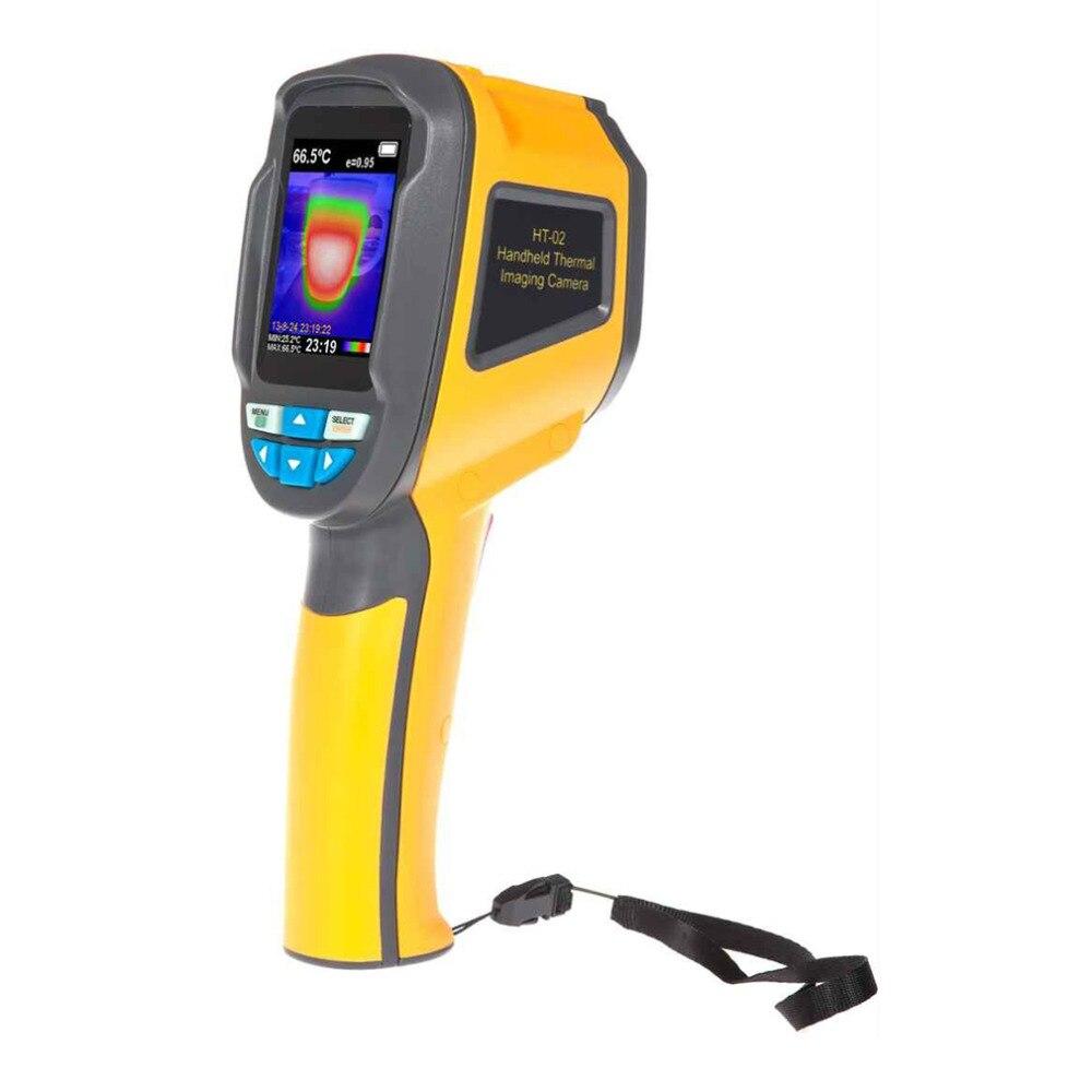 Precisione Protable Thermal Imaging Camera Termometro A Infrarossi Imager-20 ~ 300 Gradi HT-02 2.4 pollice a Colori Ad Alta Risoluzione Dello Schermo
