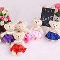 50Pcs/Lot Kawaii Small Joint Teddy Bears Stuffed Plush 12CM Toy Teddy-Bear Mini Bear Ted Bears Plush Toys On Dress Gifts 142