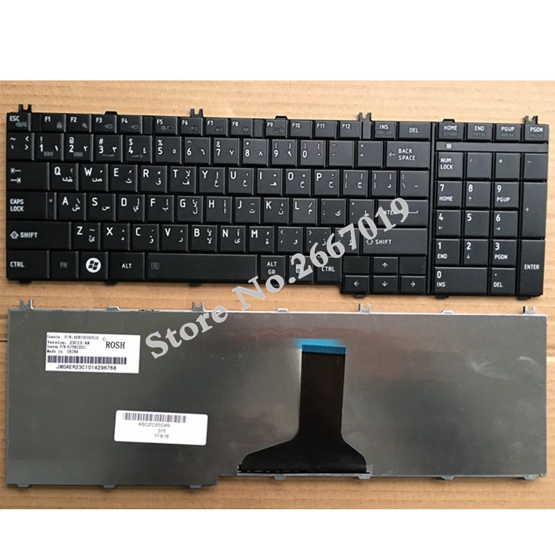 Arabic AR New for toshiba C650 C655 C655D C660 C670 L675 L750 L755 L670 L650 L655 L670 L770 L775 L775D laptop Keyboard wholesale v000225020 laptop motherboard for toshiba c650 c655 100