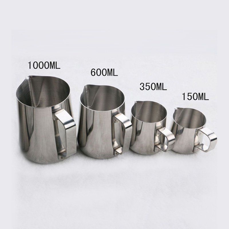 Eworld Stainless Steel Milk Frothing Jug Espresso Coffee Mug Pitcher Barista Craft Coffee Cappuccino Cups Latte Pot Kitchen Tool