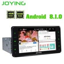 JOYING een din autoradio Android 8.1 4GB Ram 64GB Rom ondersteuning 3G/4G Octa core GPS stereo FM AM DSP 6.2 inch universele autoradio