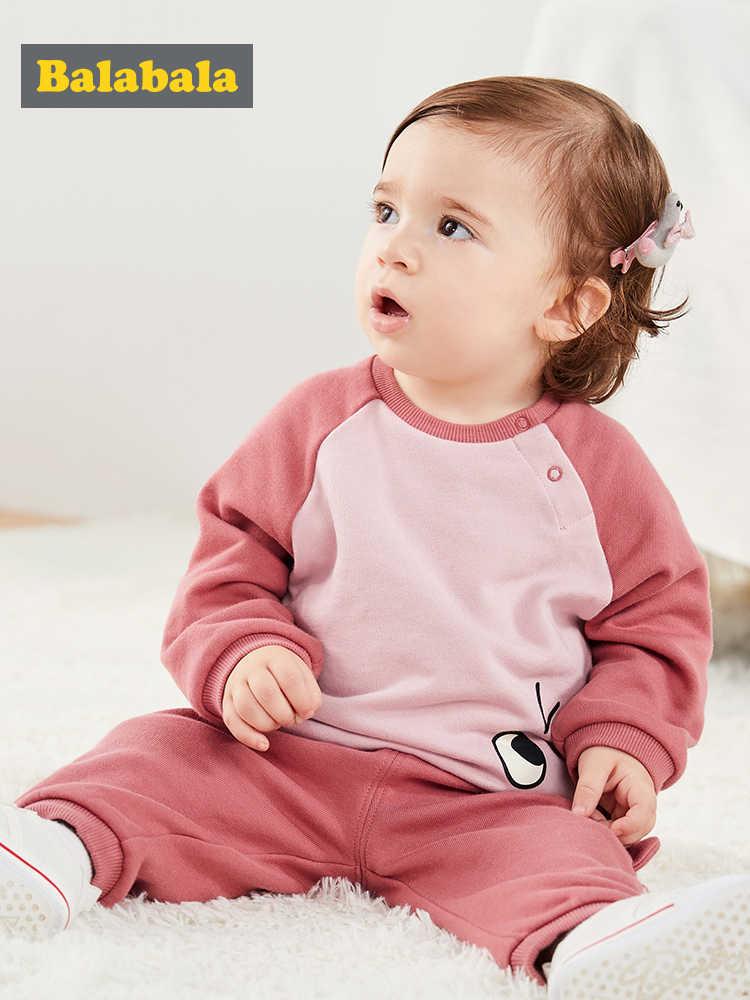 Balabala bébé automne bébé vêtements ensemble à manches longues enfants vêtements ensemble deux pièces 2019 nouveaux pulls à capuche de mode + pantalon