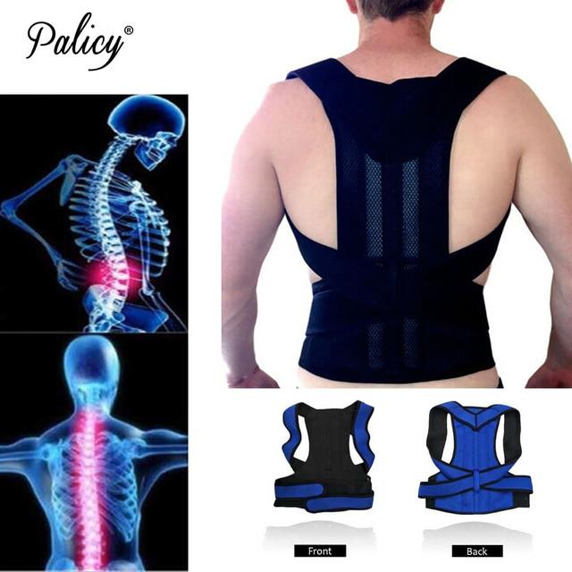 Palicy Neoprene Shapewear For Men Bodysuit Corset Male Back Lumbar Sauna Suit Brace Strap Vest Belt Cincher Posture Corrector