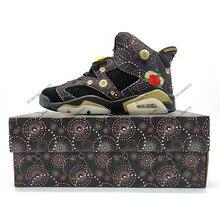 39ec40aab27b54 Breathable Jordan Retro 6 VI Men Basketball Shoes CNY Gatorade Infrared UNC  blue Wheat Athletic Breathable Sneaker Discount Sale