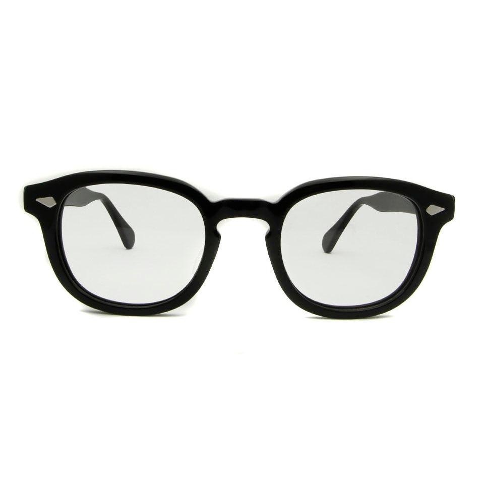 ESNBIE 47mm Kualitas Tinggi Johnny Depp Kaca Frame Kacamata Pria - Aksesori pakaian - Foto 2