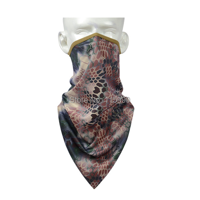 Battle Snake Tri-angle bufanda / highlander pañuelo bandana / camo pañuelo bandana / a caballo senderismo bufandas deportivas / Outddoor camo bufandas