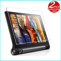 Szkło hartowane membrana dla Lenovo YOGA Tab 3 10 tab3 film ze stali ochrona ekranu hartowanego YT3 X50F X50M X50L przypadku szkło 10.1 w Ochraniacze ekranu do tabletów od Komputer i biuro na