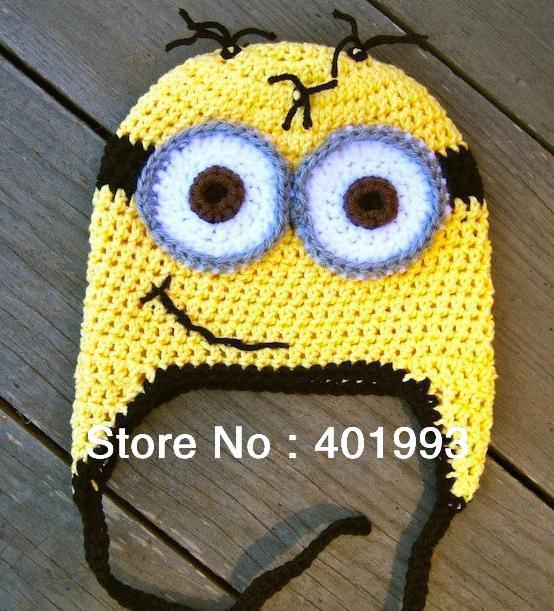Nuovo 2014 Handmade Crochet il Bambino Appena Nato Cattivissimo Me Cappello f36283791ab7