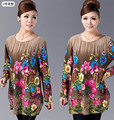 XL~3XL,4XL,5XL 20 COLOR Women Casual Dress Winter Fashion Long Sleeve Printed Big Size Dress Lady Tunic Tops Vestido de festa