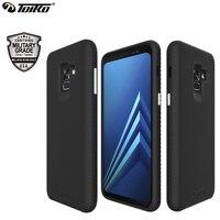 TOIKO X Wache Dual Layer Fall für Samsung Galaxy A8 Plus 2018 Abdeckung 2 in 1 Stoßfest PC TPU Hybrid telefon Shell Schutzhülle Rüstung-in Halbumwickelte Hülle aus Handys & Telekommunikation bei