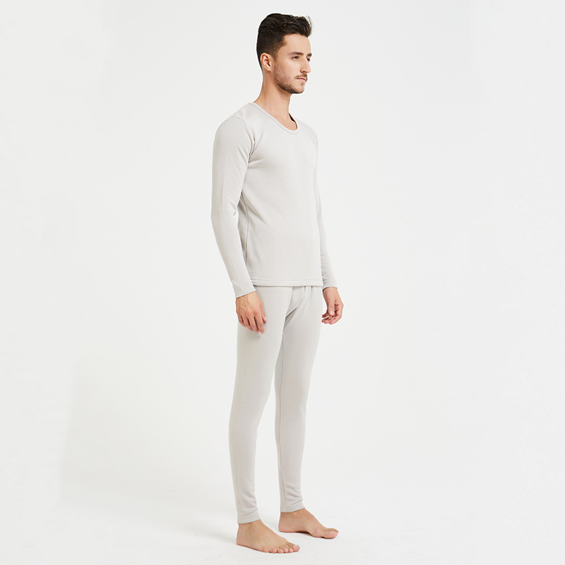 100% шелк, плюш, теплое нижнее белье, набор, толстая длинная, морозостойкая, круглый воротник, Мужская зимняя одежда и брюки, LVFAN ZC0002 - 6