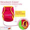 Miababy recién nacido cubierta, pañal recién nacido, NB cubierta, NB pañales, sin inserto, lavable y reutilizable pañal de tela