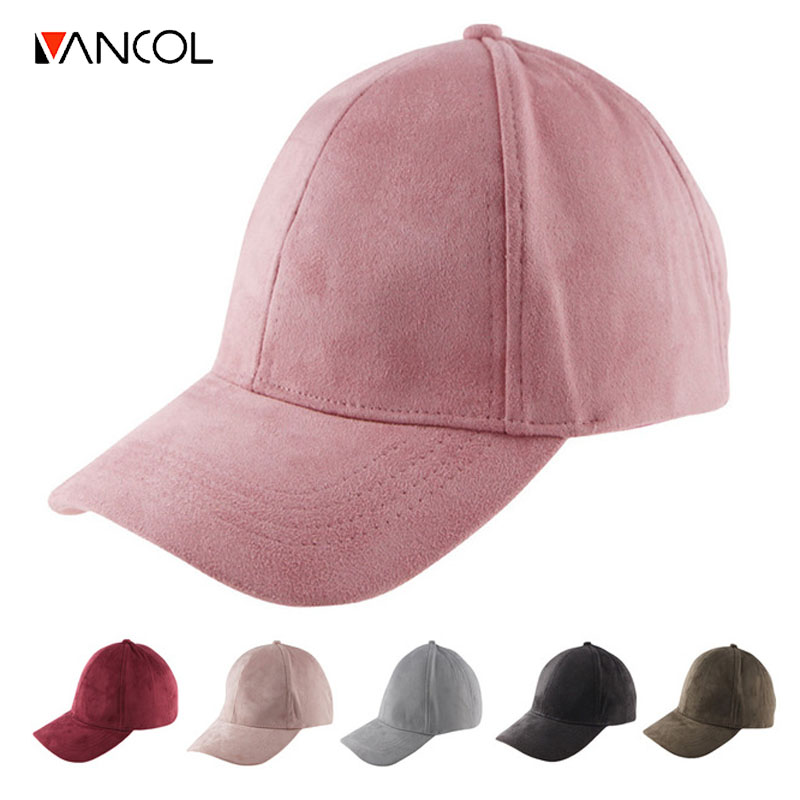 Vancol Wholesale Summer Snapback Cap Women 2016 Fashion Brand Bone Hip Hop Caps Men Casquette Suede Hats Black Pink Baseball Cap