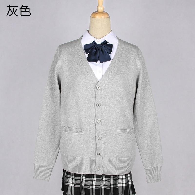 3d78d1fc704 Japanese Kawaii JK Schoolgirl Uniforms Long Sleeve V-neck Cardigan Sweater  Cosplay Soft Super Cute Women Sweaters Coat