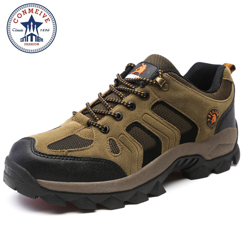 hot sale hiking shoes outdoor sapatilhas trekking climbing boots senderismo camping sneakers men Breathable Rubber Medium(B,M) humtto new hiking shoes men outdoor mountain climbing trekking shoes fur strong grip rubber sole male sneakers plus size