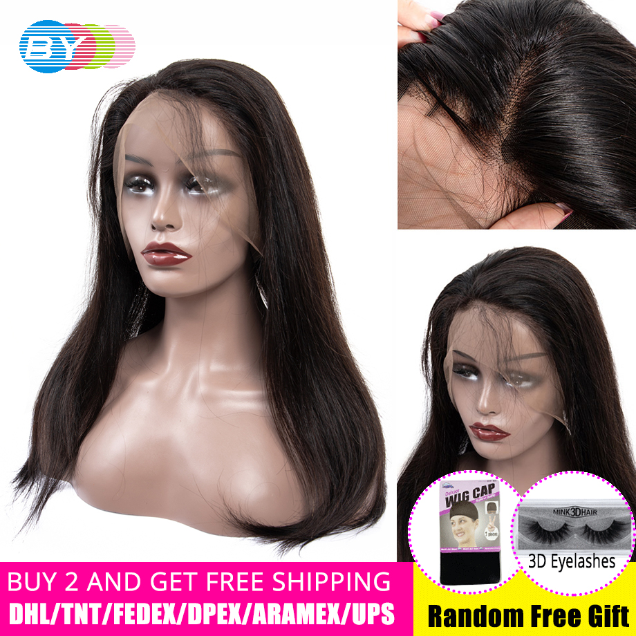 BY 360 Lace Frontal Human Hair Wig For Woman Bob Lace Front Wigs Pre Plucked With