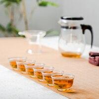 1 Teapot 6 Teacups Heat Resistant Tea Pot Flower Tea Set Puer kettle Convenient Office Teaset kung fu tea cup set D028-2