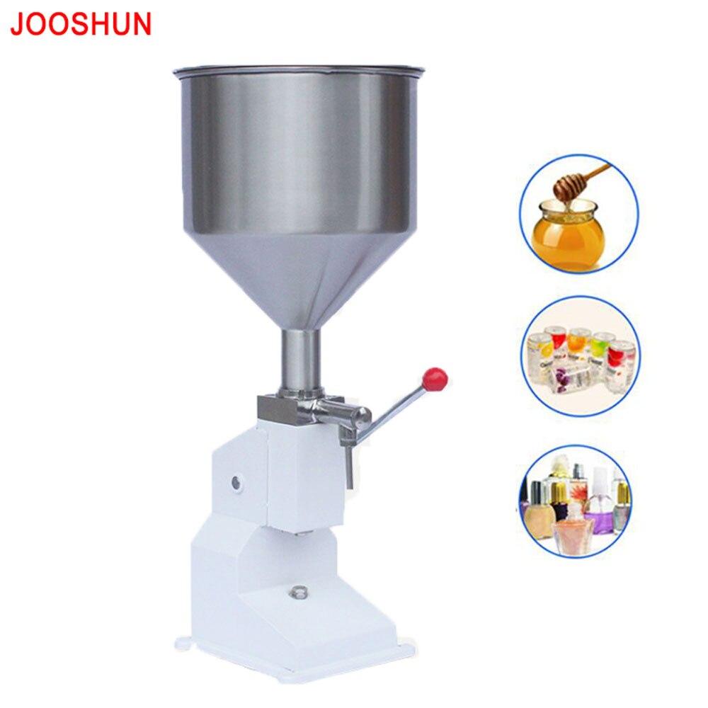 NEW Food Filling Machine Manual Hand Pressure Stainless Paste Dispensing Liquid Packaging Equipment Sold Cream Machine 1 ~ 50ml Бутылка