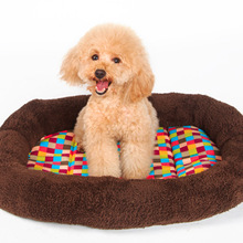 Solid Color Dog Bed Kennel Mat Soft Cloth Pet Dogs Puppy Warm Beds House Dog Cat House Pad Supplies