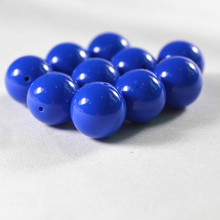 Wholesale 6.8.10.12.14mm Blue Gumball Acrylic Solid Spacer DIY Beads for Jewelry Making Solid Color AC-17