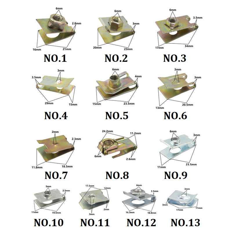 Placa de licença do carro auto-tocando parafuso base de metal prendedor clipe para todos os auto pára-choques folha placa fender rebites