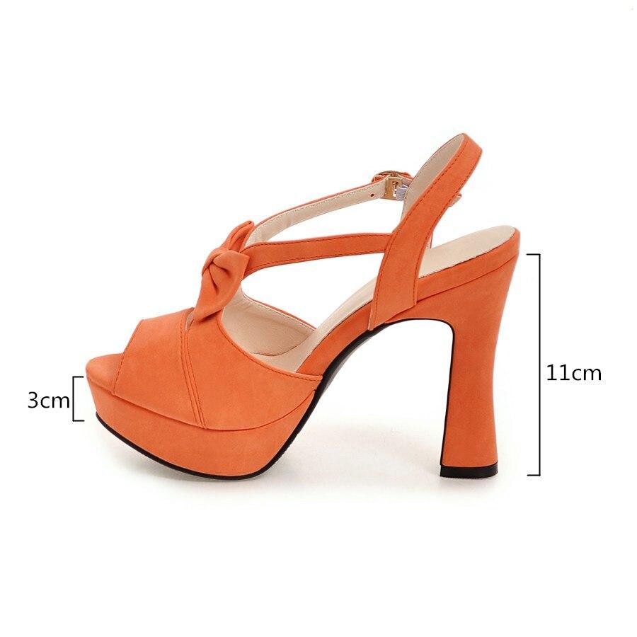 Beige pink Beige Mujer atado 2018 Dulces black Fiesta 43 Las Casuales Zapatos Tamaño Sandalias Plataforma Boda 32 Verano Rosa orange De Mujeres YU76ww1q