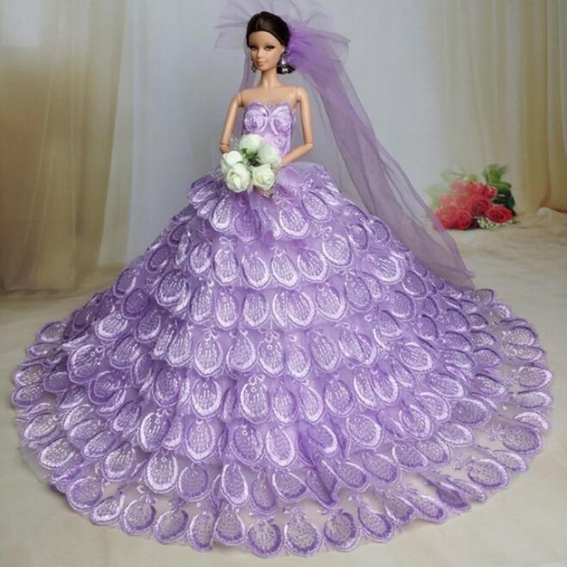 Cxzyking caliente Barbie muñeca ropa Accesorios elegante princesa ...
