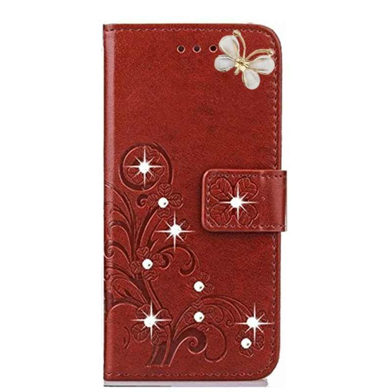 Mi 8 se 6x 5c 5x A1 A2 Lite Max 2 Butterfly Bling Leather Flip Case for Xiaomi Redmi 6 pro 6a 5 plus S2 4 4A 4X Note 5a Cover