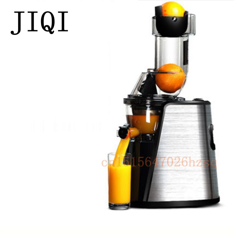JIQI Slow Juicer Fruit Milk shake maker household electric Food processor Juice Extractor Stainless steel body whole slow juicer 300w 75 cm fruits low speed juice extractor juicers fruit machines