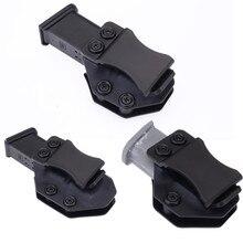 Wewnątrz paska IWB Kydex Magazine Carrier Mag Holster dla Glock 17 19 22 23 26 27 31 32 43 ukryte przenoszenie 9mm etui na broń