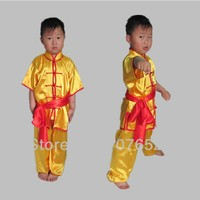 Free Shipping Wushu Suit Costume Uniforms Martial Arts Clothing New Children S Tai Chi Kung Fu
