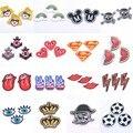1 pcs DIY Remendo Tecido Bordado Patches Badges Iron-On Costura Para Patches Roupas Chapéu Ornamento Decorativo