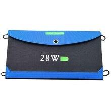 Портативное солнечное складное зарядное устройство 28 Вт мобильный телефон двойной USB для путешествий на открытом воздухе кемпинга запасной Солнечный зарядная доска водонепроницаемый Sola