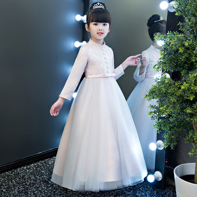2017 New Arrival Children Girls Children Luxury Elegant Birthday Wedding Party Princess Lace Dress Kids Ball Gown Pageant Dress 2018 summer new children girls elegant noble birthday wedding party lace princess dress kids hand made beading ball gown dress