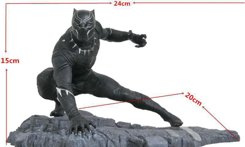 JHACG Avengers 15cm Black Panther Super hero Scenario Edition Action figure toys doll Christmas gift with box new hot 22cm avengers super hero hulk movable action figure toys christmas gift doll with box