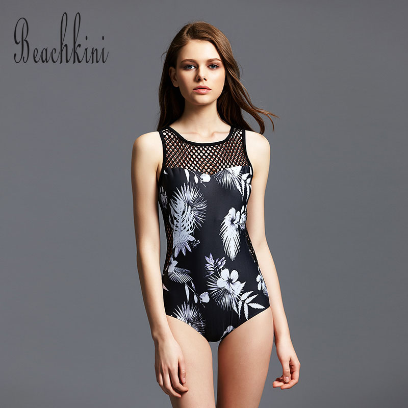 2017 New Women Sexy Back Mesh Bathing Suit Hollow Out Monokinis High Cut Brazil Swimwear One Piece Swimsuit Beachwear 2017 brand sequin bathing suits sexy one piece swimsuit high waist swimwear women cut out bodysuit monokinis bk491