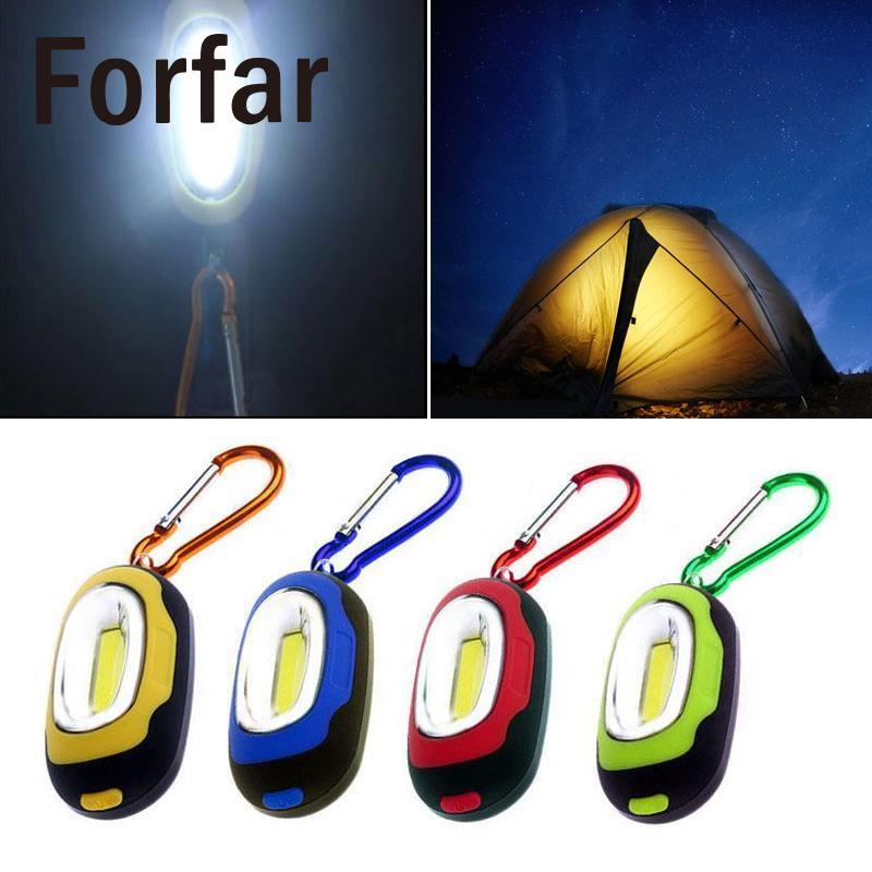 2017 Mini COB LED Flashlight Waterproof Portable Keychain Torch Light Camping